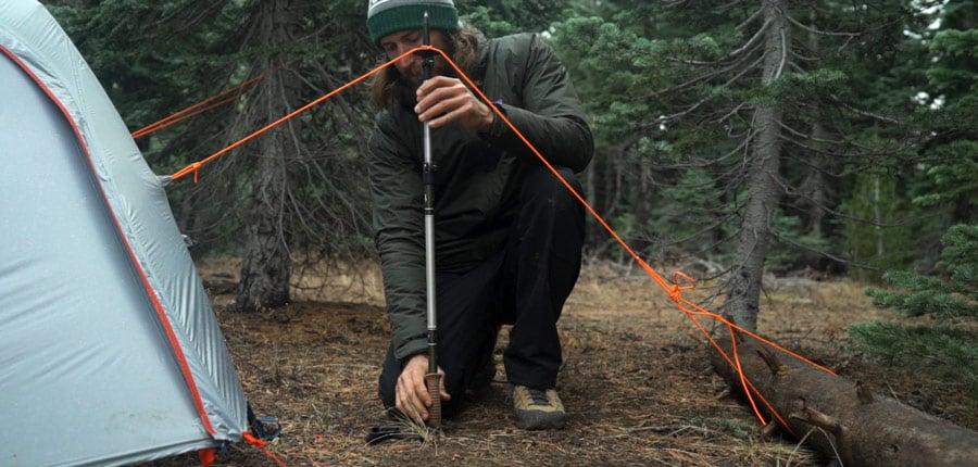 dựng lều trại đơn giản