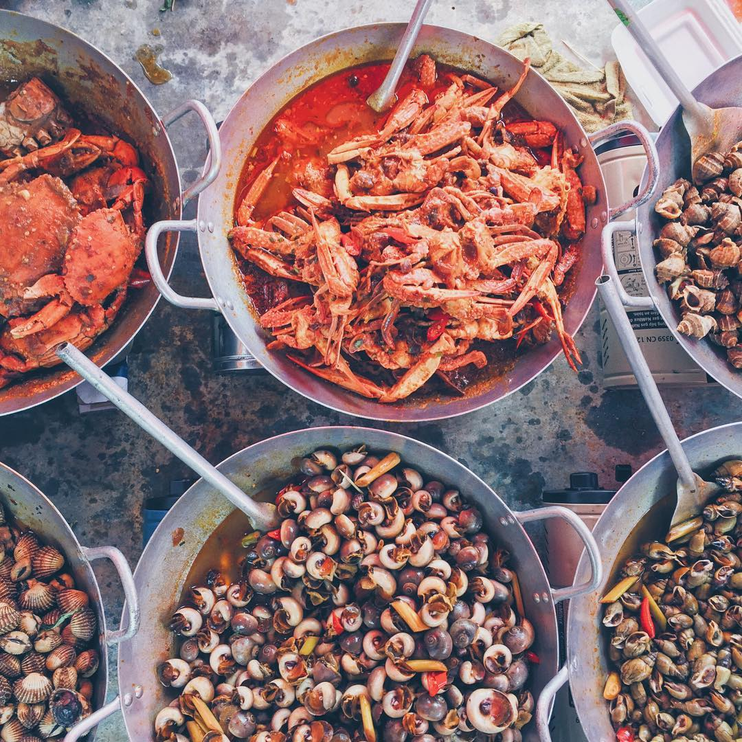 hải sản khu du lịch sinh thái biển Phương Nam