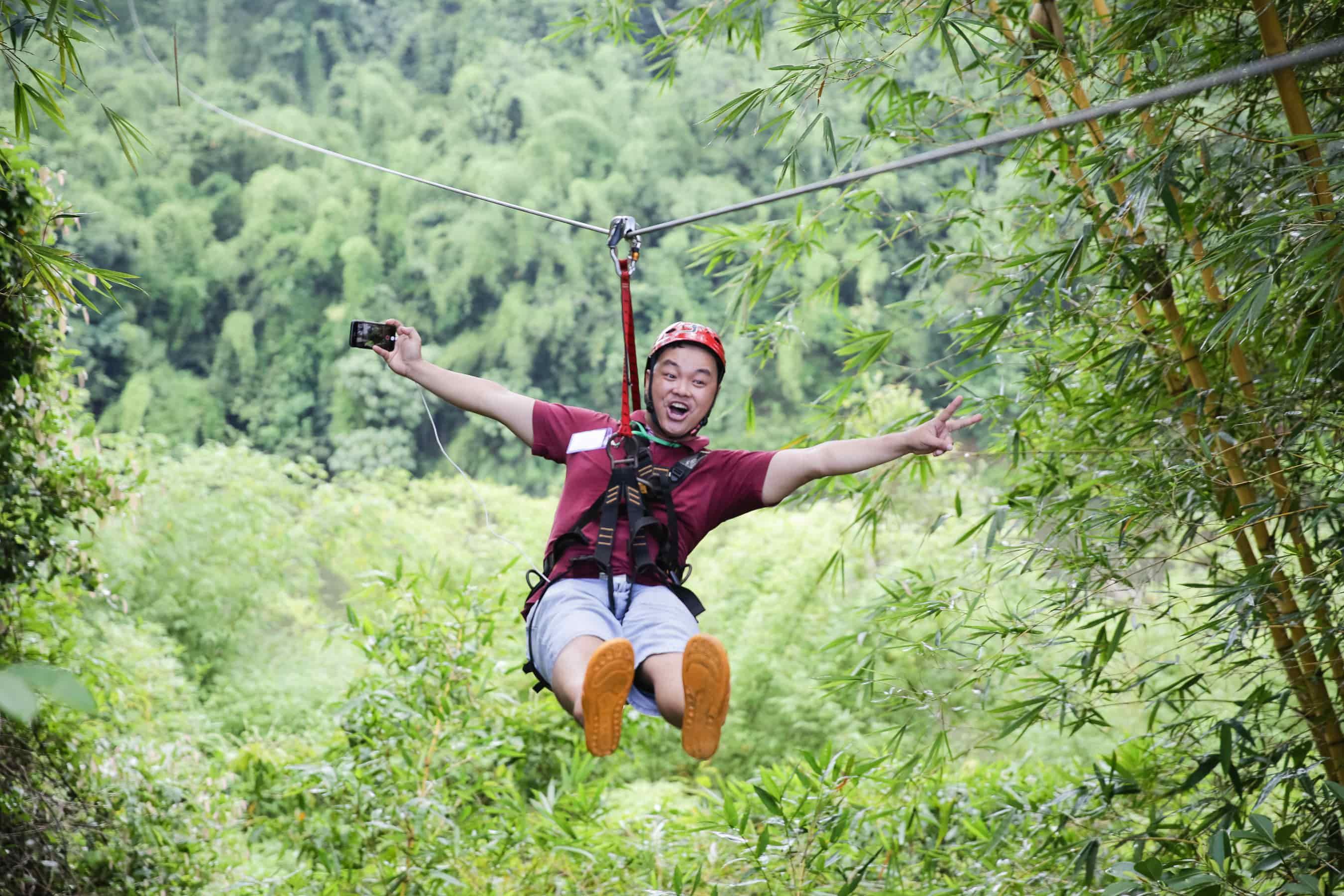 zipline tại khu du lịch sinh thái cao minh đồng nai