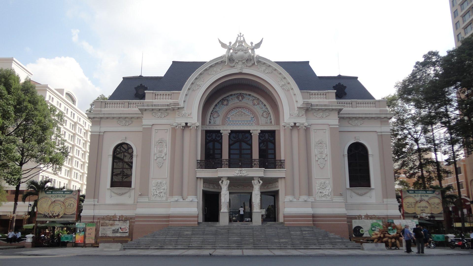 Phong cảnh Sài Gòn- Nhà hát TP Hồ Chí Minh