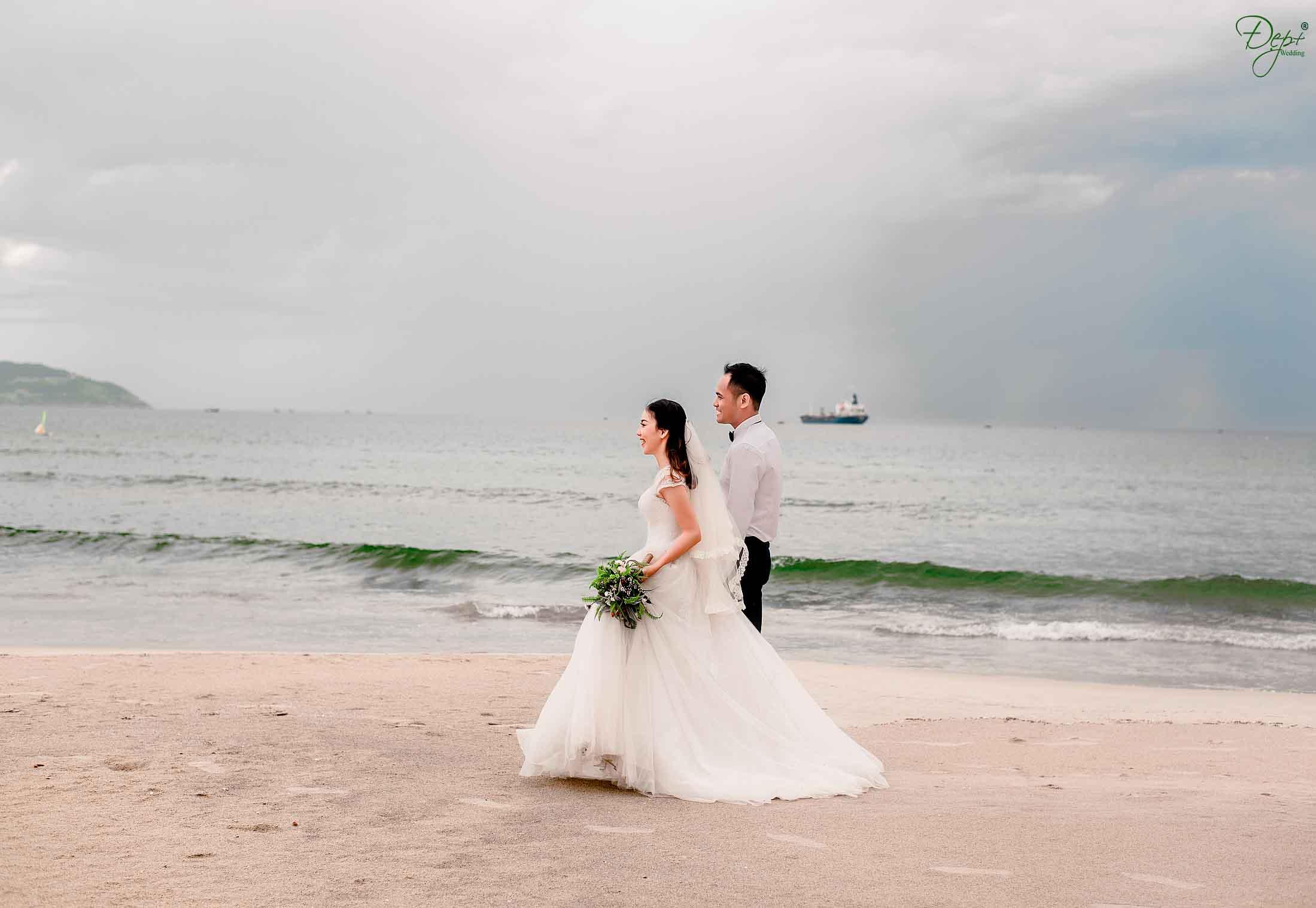 công viên biển đông là địa điểm chụp ảnh cưới
