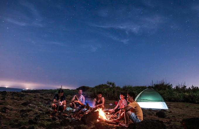 cắm trại qua đêm gần hà nội