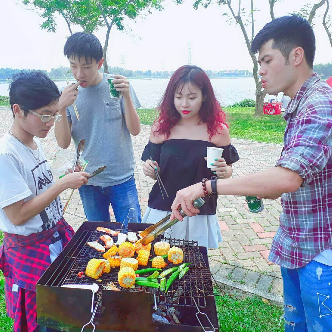 Cắm trại Công viên Yên Sở